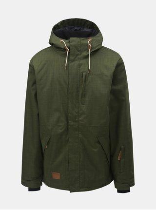Jacheta barbateasca verde pentru snowboard Meatfly Diego 2