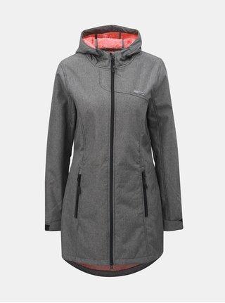 Sivý dámsky melírovaný softshellový nepremokavý tenký kabát LOAP Lavinia