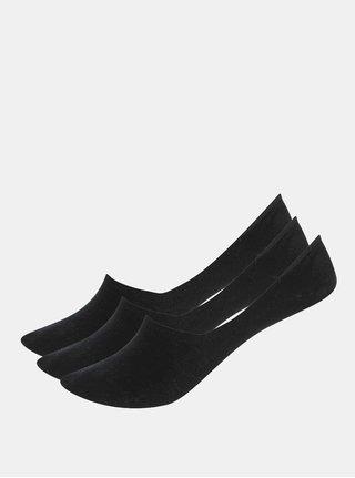 Sada tří dámských sneaker ponožek v černé barvě Bellinda Invisible
