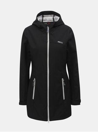 Čierny dámsky softshellový nepremokavý tenký kabát LOAP Lavinia