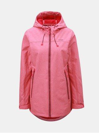 Ružová dámska softshellové nepremokavá bunda s kapucňou LOAP Livia