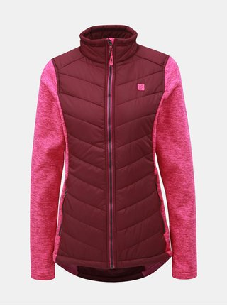 Jacheta lejera roz de dama cu maneci din tricot LOAP Gabie