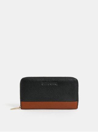 Hnědo-černá kožená peněženka Smith & Canova