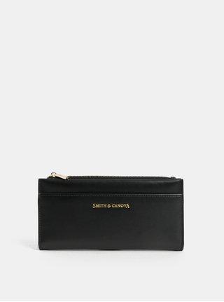 Černá kožená velká peněženka Smith & Canova