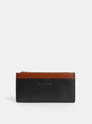 Hnedo–čierna kožená veľká peňaženka Smith & Canova