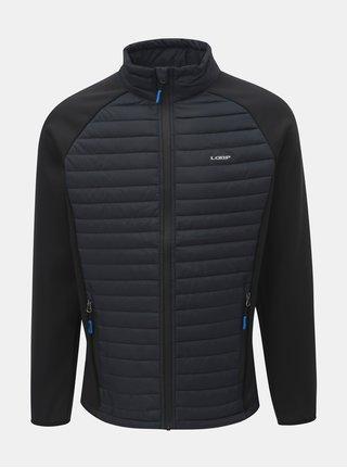 Černá pánská prošívaná lehká bunda s límcem LOAP Ired