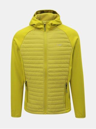 Svetlozelená pánska prešívaná tenká bunda s kapucňou LOAP Iredos