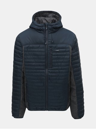 Šedo-modrá pánská voděodpudivá bunda s kapucí LOAP Jackson