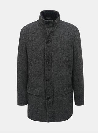 Tmavosivý kabát s prímesou vlny a odnímateľnou vsadkou Selected Homme Hannover