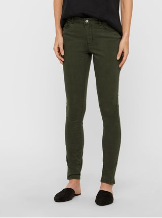 Blugi slim fit kaki din denim VERO MODA