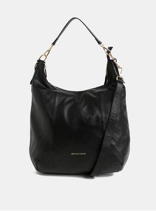 Černá kožená kabelka s odnímatelným popruhem Smith & Canova