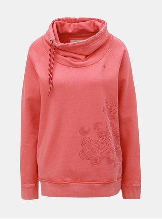 Bluza sport corai de dama cu guler LOAP Darina