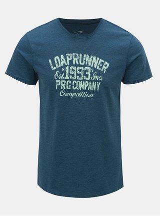 Modré pánske melírované tričko LOAP Azro