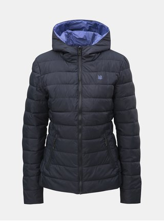 Fialovo–sivá dámska obojstranná nepremokavá bunda s kapucňou LOAP Irisa