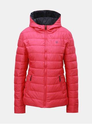 Sivo–ružová dámska obojstranná nepremokavá bunda s kapucňou LOAP Irisa