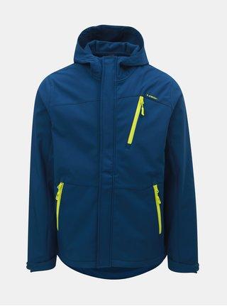 Tmavomodrá pánska softshellová nepremokavá bunda s kapucňou LOAP Lombard