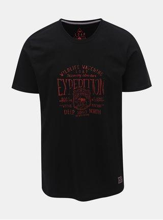 Černé pánské tričko s potiskem LOAP Betar