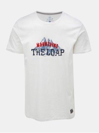 Bílé pánské tričko s potiskem LOAP Busto