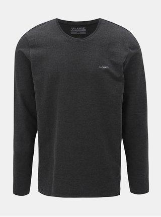 Tmavě šedé pánské tričko s dlouhým rukávem LOAP Babol