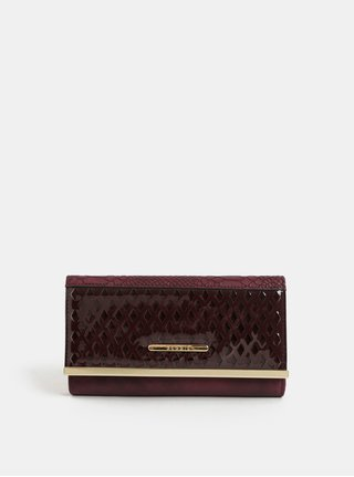 Vínová veľká peňaženka s detailmi v zlatej farbe Bessie London