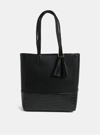 Černá velká kabelka se střapcem Dorothy Perkins