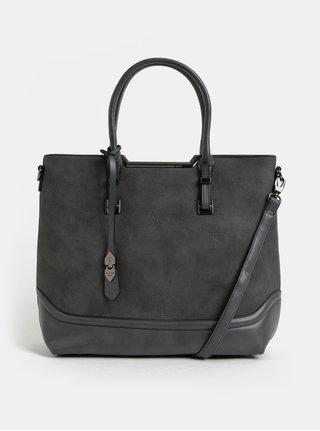 Tmavě šedý shopper s odnímatelným popruhem Bessie London