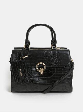 Černá kabelka se zvířecím vzorem a odnímatelným pouzdrem Bessie London