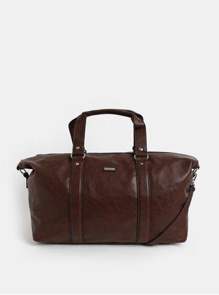Tmavohnedá cestovná taška s vreckom na notebook Bobby Black