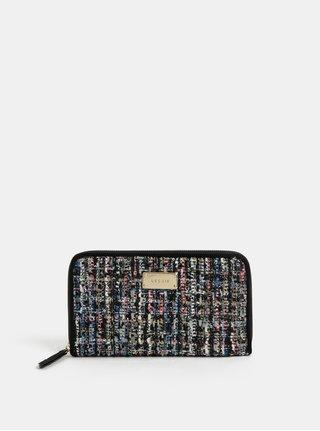 Růžovo-černá velká žíhaná peněženka Bessie London