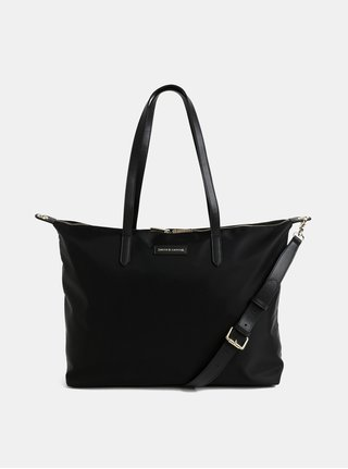 Čierna cestovná taška s vreckom na notebook Smith & Canova