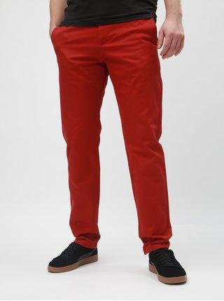 Červené slim kalhoty Selected Homme Carlo