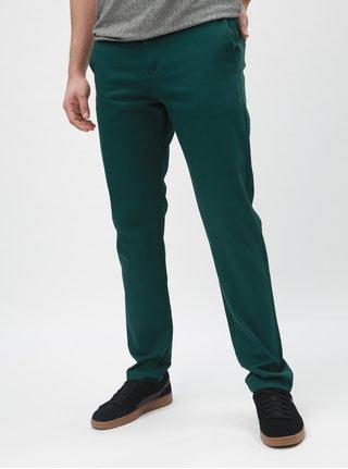 Tmavozelené slim nohavice Selected Homme Carlo
