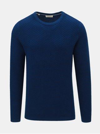 Tmavě modrý svetr s kulatým výstřihem  Selected Homme New Dean