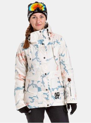 Geaca albastu-crem impermeabila de dama de snowboard NUGGET Anja