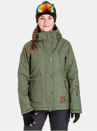 Geaca verde impermeabila de dama de snowboard NUGGET Anja