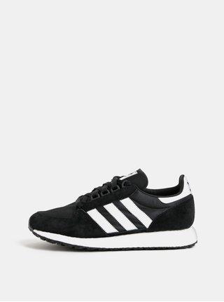 Čierne pánske tenisky so semišovými detailmi adidas Originals Forest Grove