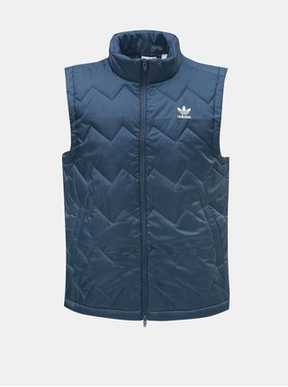 Modrá pánská prošívaná vesta adidas Originals