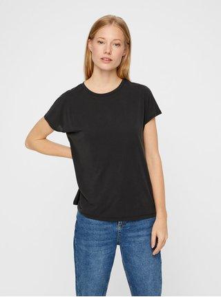 Čierne voľné basic tričko Noisy May Allen