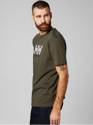 Zelené pánske regular fit tričko s výšivkou HELLY HANSEN