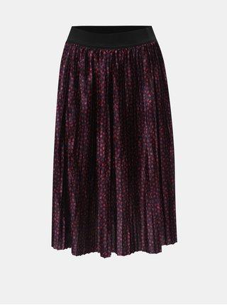 Ružovo–modrá vzorovaná plisovaná sukňa VERO MODA Kiss