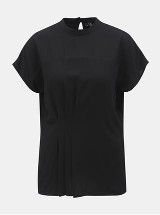 Bluza neagra cu pliuri in talie VERO MODA Jaylo