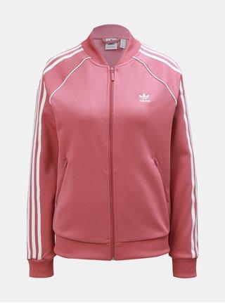 Bluza sport roz de dama cu fermoar adidas Originals