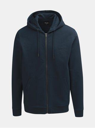 Tmavě modrá mikina se zipem a kapucí ONLY & SONS Basic