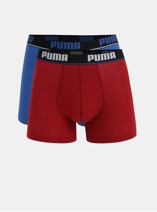 Set de 2 boxeri rosii si albastri Puma