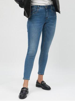 Modré zkrácené regular skinny džíny ONLY