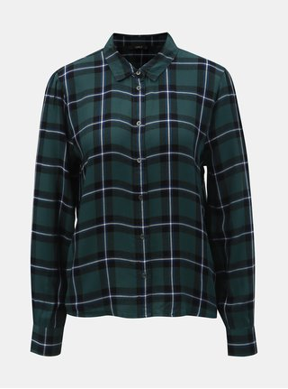 Černo-zelená kostkovaná košile ONLY