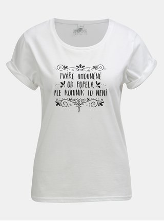Bílé dámské tričko s potiskem ZOOT Original Popelka db76b05b11