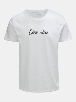 Bílé pánské tričko s potiskem ZOOT Original Olovo volovo