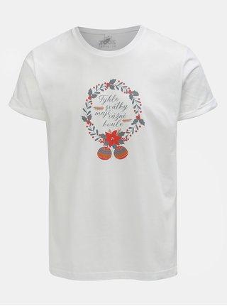 cd10188cf9d Bílé pánské tričko s potiskem ZOOT Original Svátky mají koule
