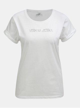 Biele dámske tričko s potlačou ZOOT Original Věřím na Ježíška